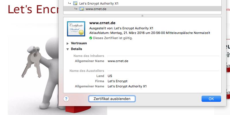 Let's Encrypt? OK!